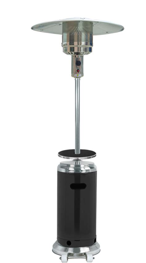 hiland 87 quot black and stainless steel finish patio heater