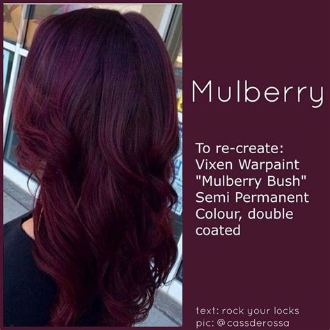 mulberry color mulberry hairstyles hair coloring hair