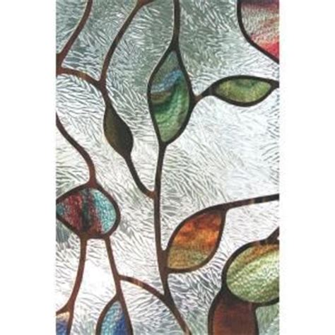 artscape 24 in x 36 in new leaf decorative window home the window and home depot