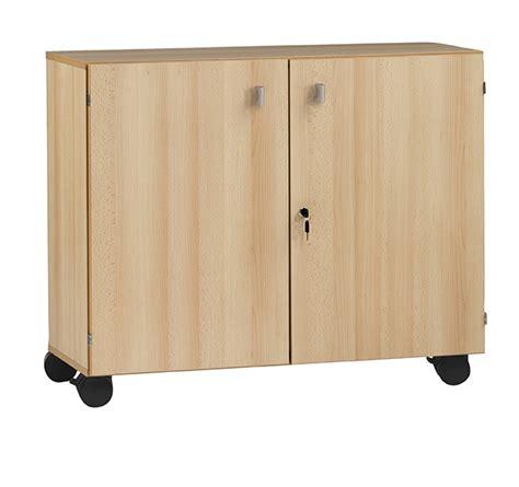 meuble bas portes battantes 224 roulettes l90 l120 simire