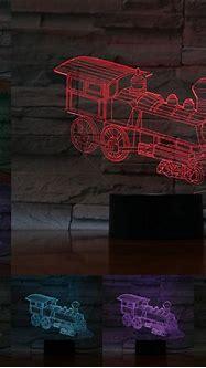 Train Locomotive 3D Lamp Illusion Night Light Car LED Bulb ...