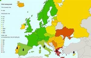 Online Maps: European countries' credit ratings
