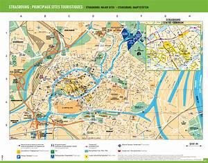 Plan De Strasbourg Centre Ville Tram Et Bus SCB
