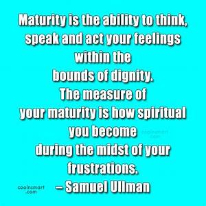 Images Of Maturity Quotes And Sayings Golfclub