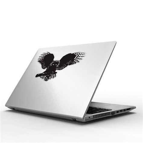 sticker macbook owl 1 fractal owl vinyl sticker for macbook 13 15 vinyl