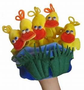 Marionnette à Main : marionnette canard 5 canetons taillle enfant marionnette gant ~ Teatrodelosmanantiales.com Idées de Décoration