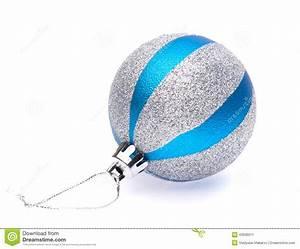 Boule De Noel Bleu : boule de no l de bleu argent photo stock image 43936511 ~ Teatrodelosmanantiales.com Idées de Décoration