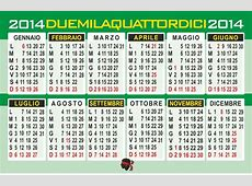Calendario 2014 annuale – Grafica online