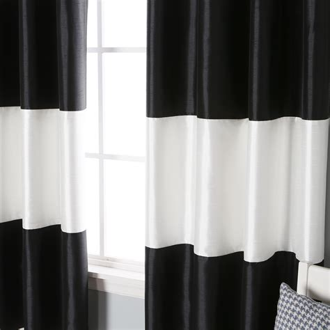 Black And White Horizontal Striped Curtains by Target Sheer Curtains Black And White Striped Curtains
