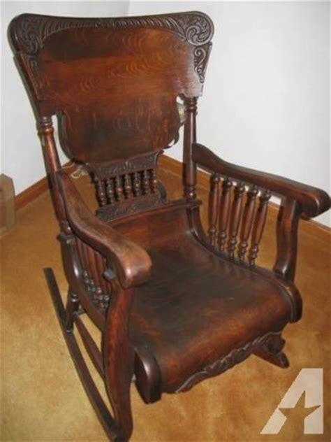 antique oak rocking chair fancy for sale in