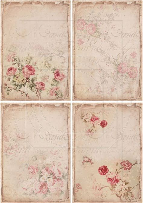 shabby chic free printables instant download digital collage sheet shabby chic gift by bitmap printable pinterest