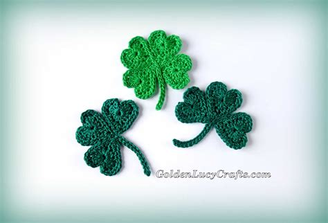 Crochet Shamrock For St Patrick's Day And Lucky Clover