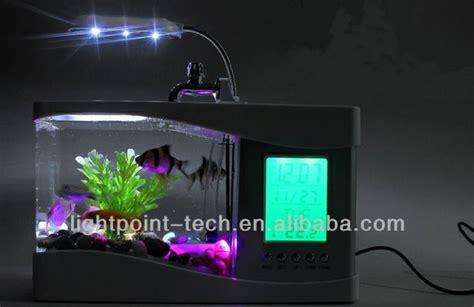 bureau aquarium mini cadeau écran lcd aquarium fish tank de bureau usb