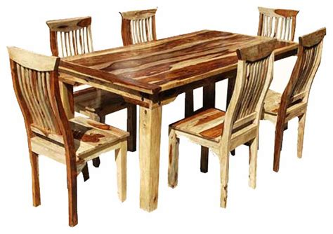 rustic dining table dallas dallas 7 piece wood dining room set rustic dining sets