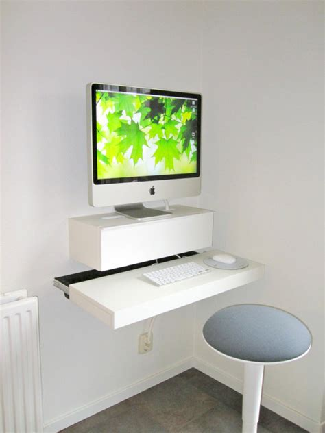 Wall Mounted Floating Desk Ikea by 18 Diy Desks To Enhance Your Home Office