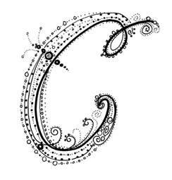 Fancy Alphabet Letters C