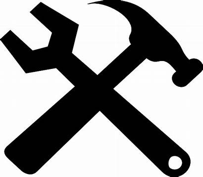 Hammer Wrench Crossed Clip Clipart Vector Clker