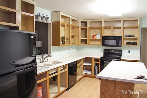 space between kitchen cabinets and ceiling kitchen reno the next step from thrifty decor