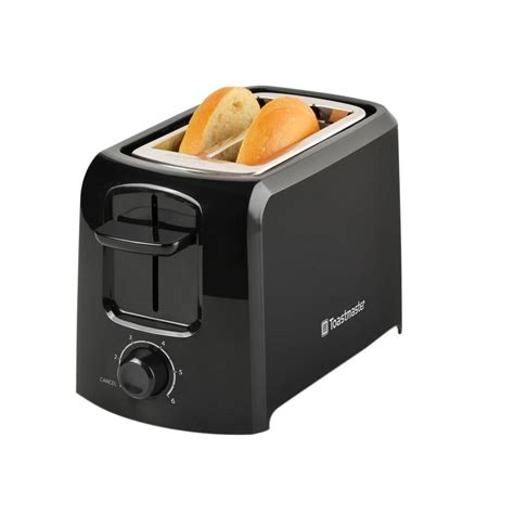 All Black Toaster by Toastmaster 2 Slice Black Toaster 2344 The Home Depot