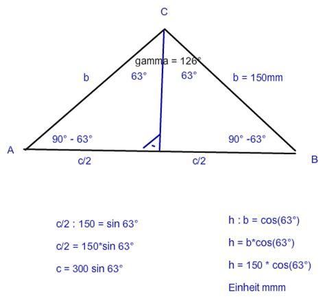 gleichschenkliges dreieck trigonometrie bmm gamma