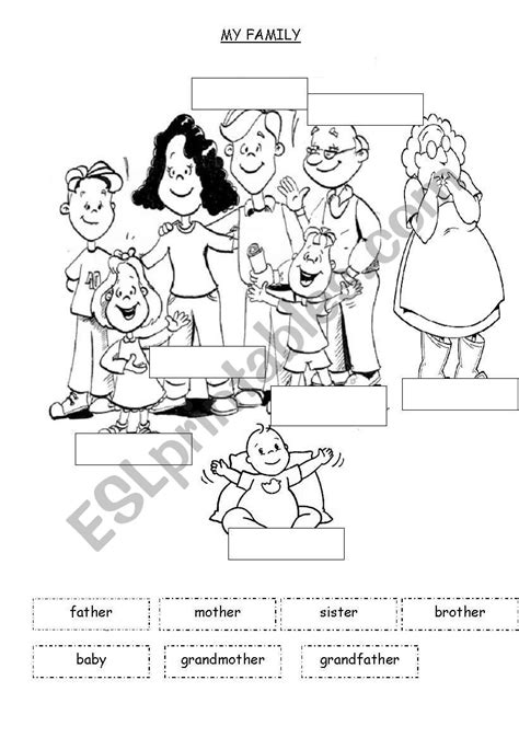 family esl worksheet  mariadelarosa