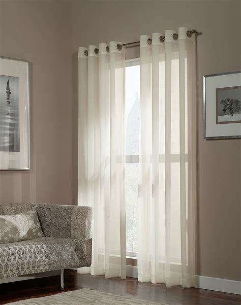 minimalist home interior decor with white semi sheer