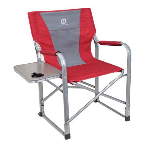 outbound deluxe director s chair with side table
