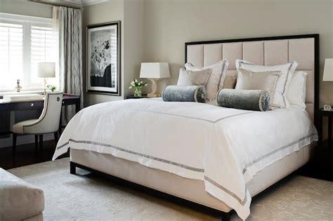 white hotel bedding transitional bedroom jennifer worts design