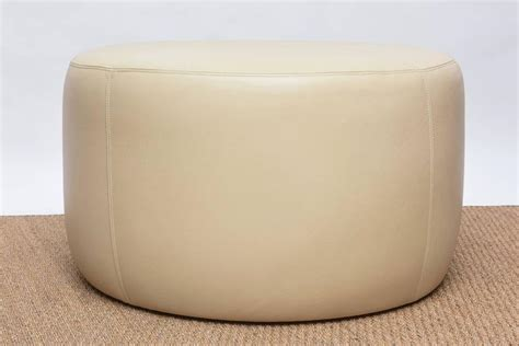 round ottomans for sale round leather ottoman for sale at 1stdibs