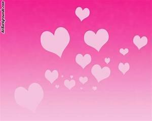 Cute Pink Flower Hearts Backgrounds - Twitter & Myspace ...