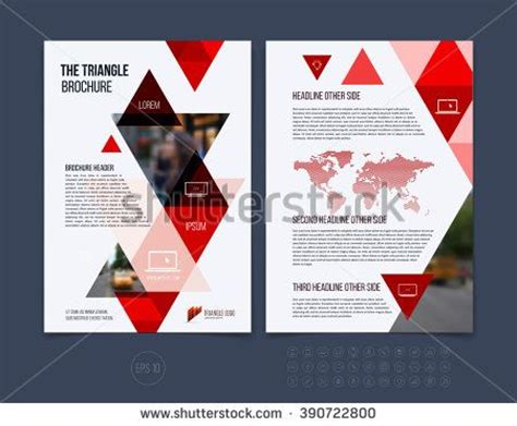 business brochure template layout cover design annual