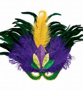 Feather Masquerade Mardi Gras Mask Deluxe 22in x 15 1/2in ...