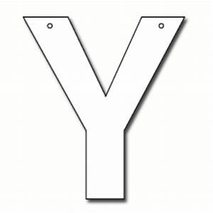 Cut out letter y cardboard ea party supplies for Large cardboard letter cutouts