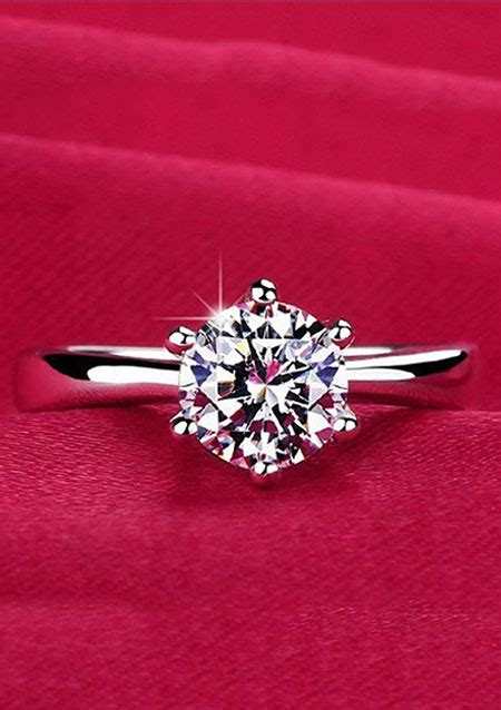 925 sterling silver plated cubic zirconia wholesale jewelry wedding ring rings