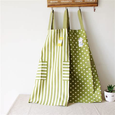 designer kitchen aprons new fashion stripe dot design kitchen apron for 3224