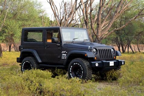 jeep mahindra mahindra thar customised stunningly into a jeep wrangler
