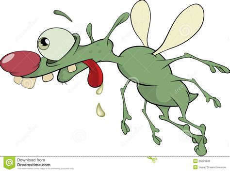 Green Insect. Cartoon Stock Vector. Image Of Disgust