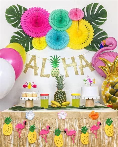 Tropical Party, Luau Party, Hawaiian Party Theme, Summer