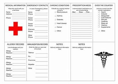 Medical Printable Card Cards Wallet Templates Printablee