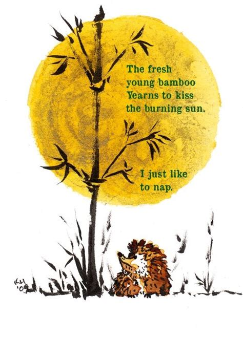 haiku sun kerry painting hedgie bamboo japanese short poems cursed whole zen