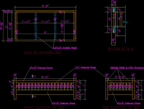 detail  bed  autocad cad   kb