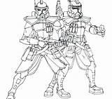 Clone Coloring Trooper Wars Pages Star Troopers Drawing Clones Getdrawings Getcolorings Printable Sheets sketch template