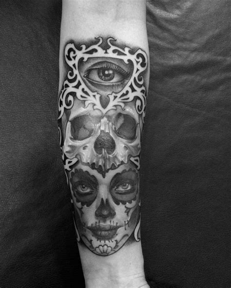 foto de Mexican American Flag Tattoo Black And White Best Tattoo
