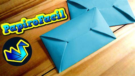 Origami facil    Como hacer un sobre para cartas - YouTube