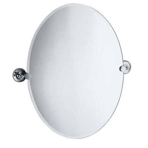 Tilting Bathroom Mirror Chrome chrome oval tilt bathroom mirror bellacor