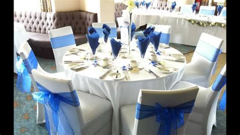 royal blue table decorations royal blue wedding reception centerpieces party themes