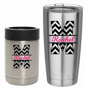chevron yeti tumbler decal yeti cup decal by With vinyl letters for tumblers