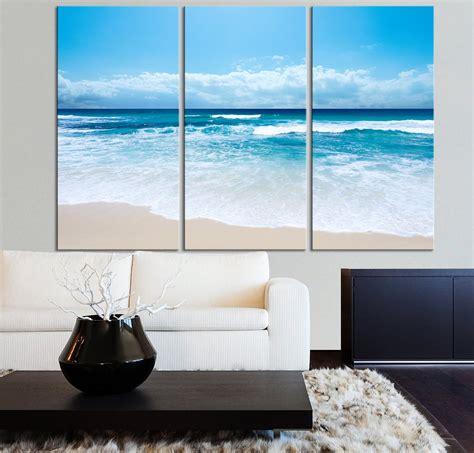 large wall art ocean beach  wave canvas print