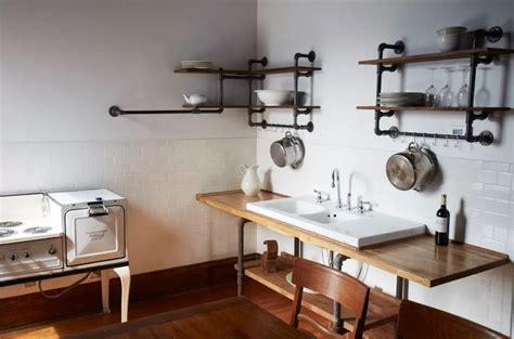 pipe shelves kitchen this look hudson milliner kitchen in new york