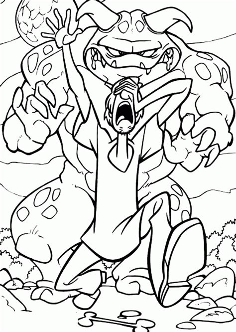 scooby doo monster truck coloring pages sketch coloring page